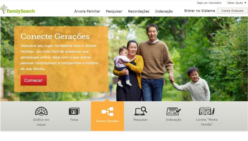 FamilySearch é mantido pela Igreja de Jesus Cristo dos Santos dos Últimos Dias